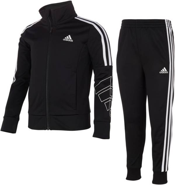 adidas Girls' Tricot Full Zip Jacket and Joggers Set product image