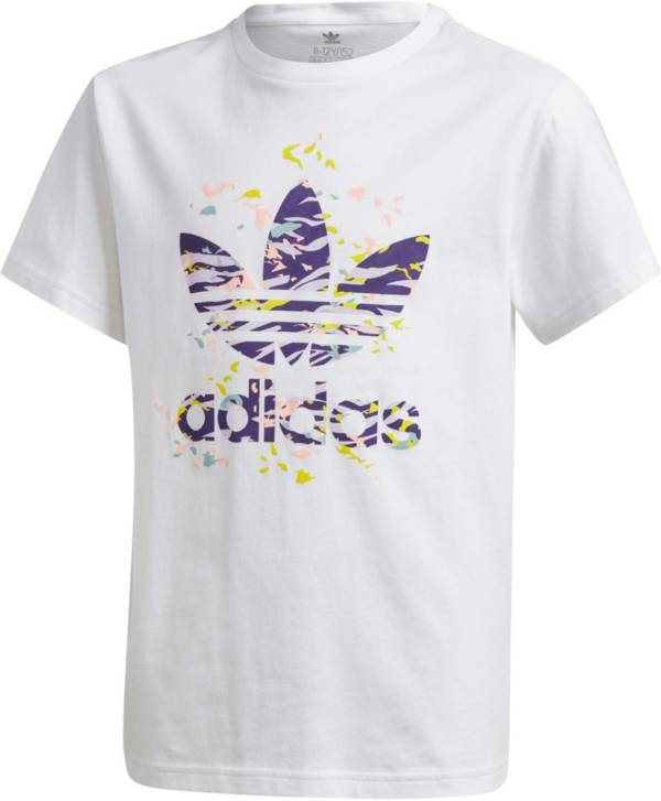 adidas Originals Girls' Printed Trefoil T-Shirt product image
