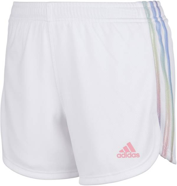 adidas Girls' Iridescence Striped Shorts product image