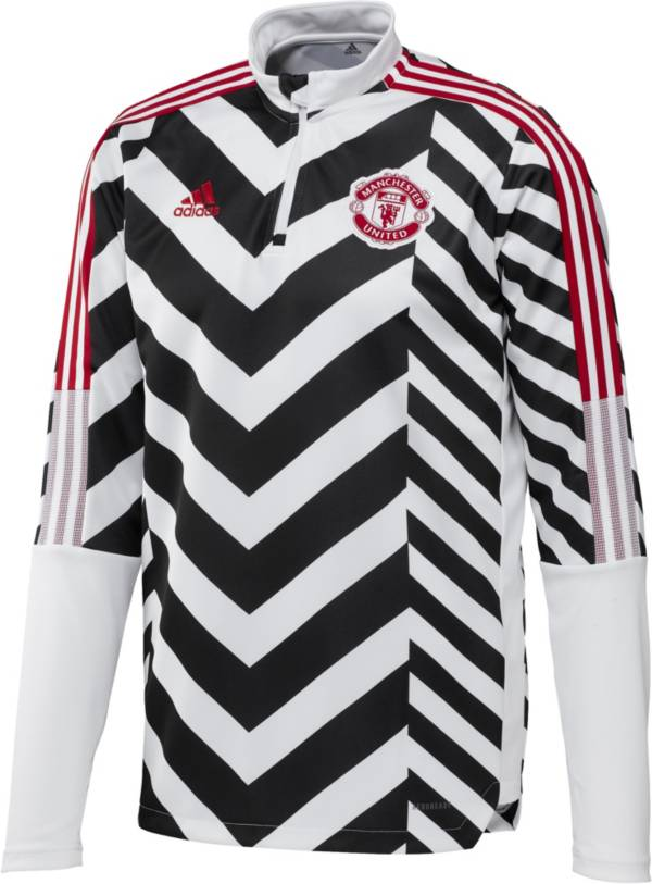 adidas Men's Manchester United Tiro White Full-Zip Track Jacket product image