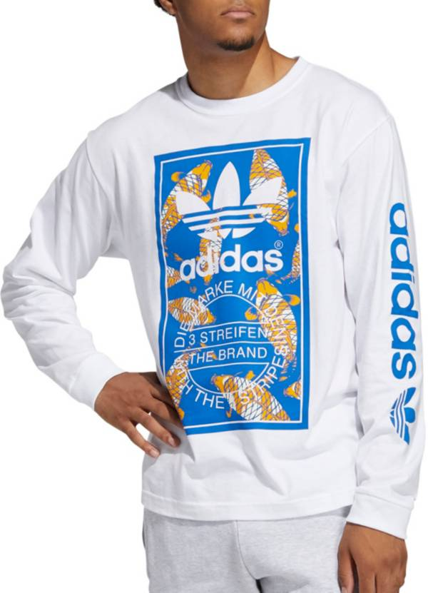 adidas Men's Originals Koi Tongue Label Long Sleeve T-Shirt