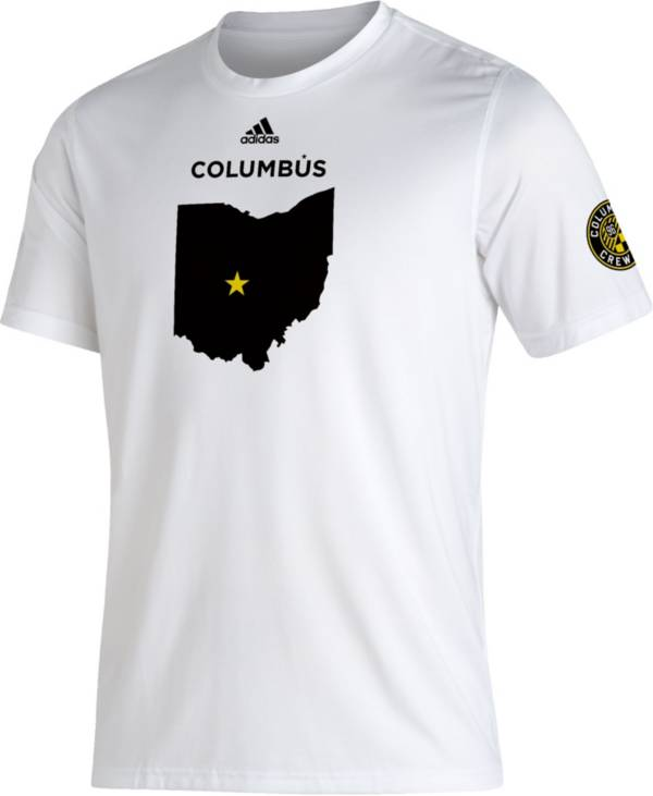 adidas Men's Columbus Crew White Kickoff Creator Performance T-Shirt product image