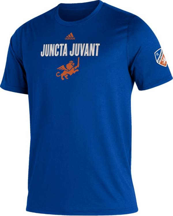adidas Men's FC Cincinnati Blue Kickoff Creator Performance T-Shirt product image