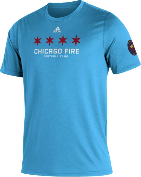 adidas Men's Chicago Fire Blue Kickoff Creator Performance T-Shirt product image