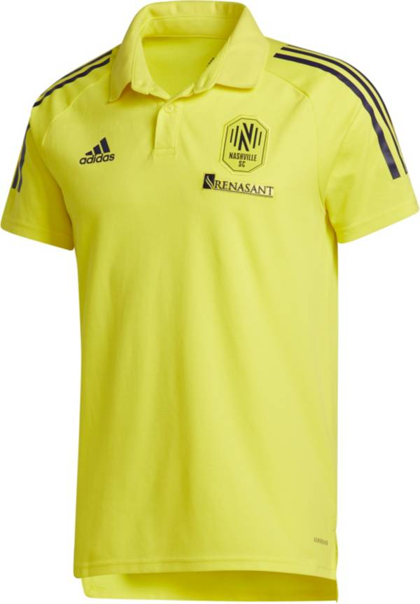 adidas Men's Nashville SC Coaches Yellow Polo product image