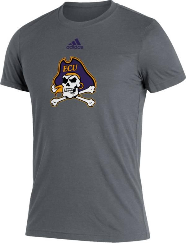 adidas Men's East Carolina Pirates Grey Logo Blend T-Shirt product image