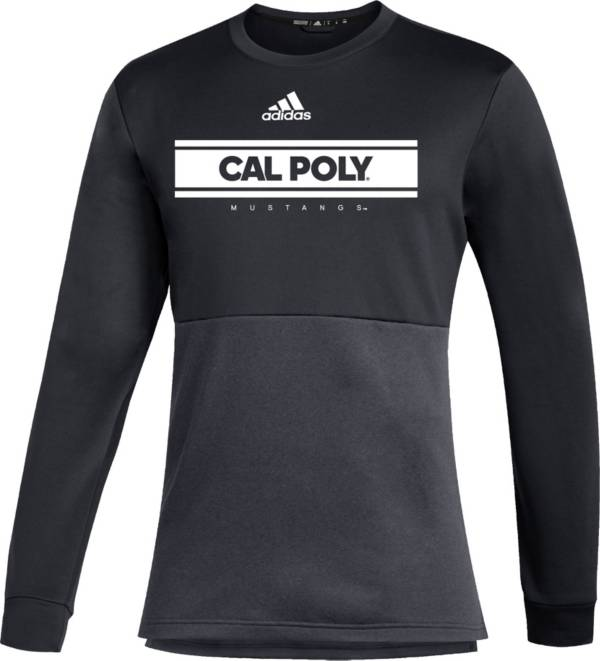 adidas Men's Cal Poly Mustangs Team Issue Crew Pullover Black Shirt product image