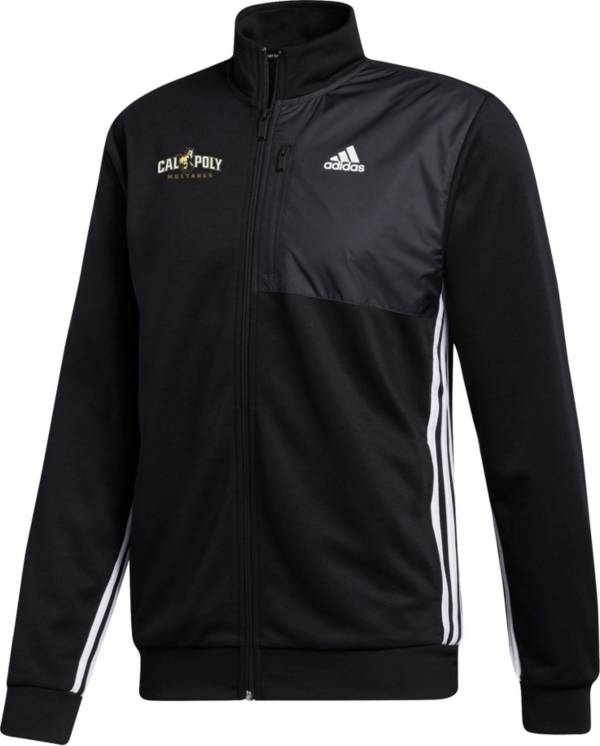 adidas Men's Cal Poly Mustangs Transitional Full-Zip Track Black Jacket product image