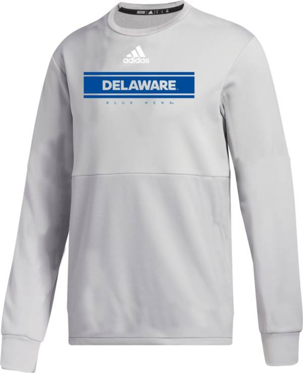 adidas Men's Delaware Fightin' Blue Hens Grey  Team Issue Crew Pullover Shirt product image