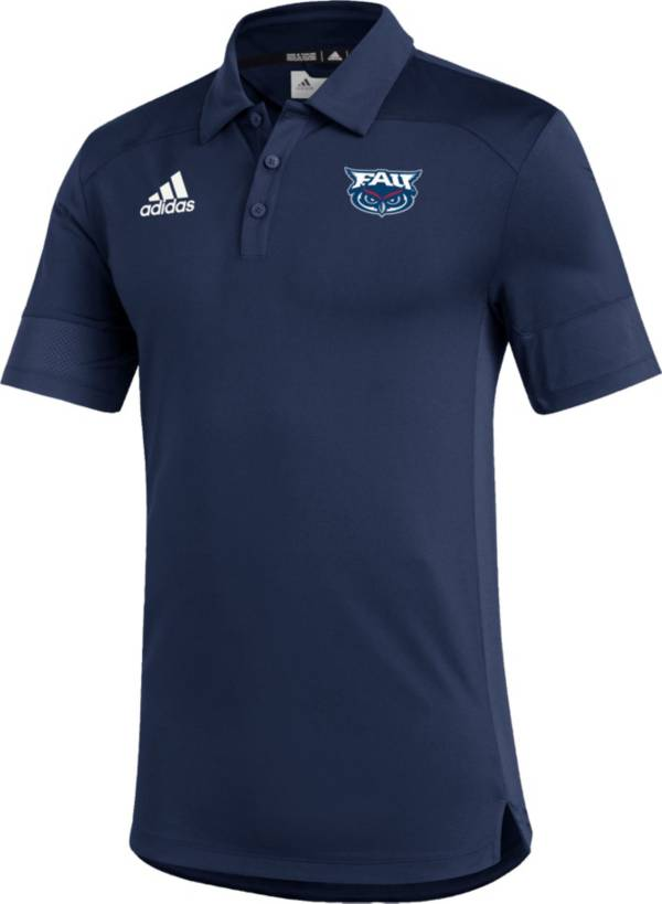 adidas Men's Florida Atlantic Owls Blue Under the Lights Coaches Sideline Polo product image