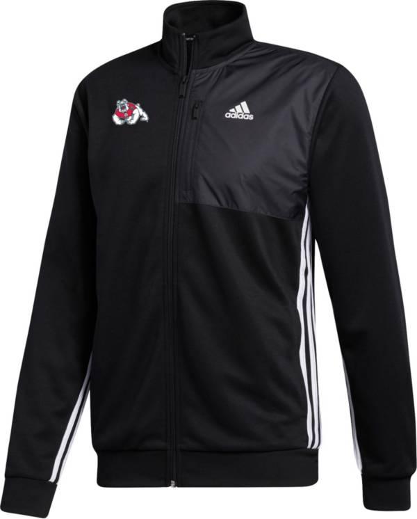 adidas Men's Fresno State Bulldogs Transitional Full-Zip Track Black Jacket product image