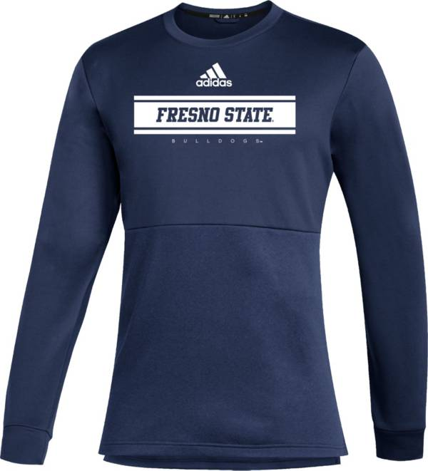 adidas Men's Fresno State Bulldogs Blue Team Issue Crew Pullover Shirt product image