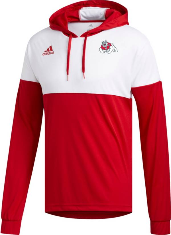 adidas Men's Fresno State Bulldogs Cardinal Legend Shooter Long Sleeve Shirt product image