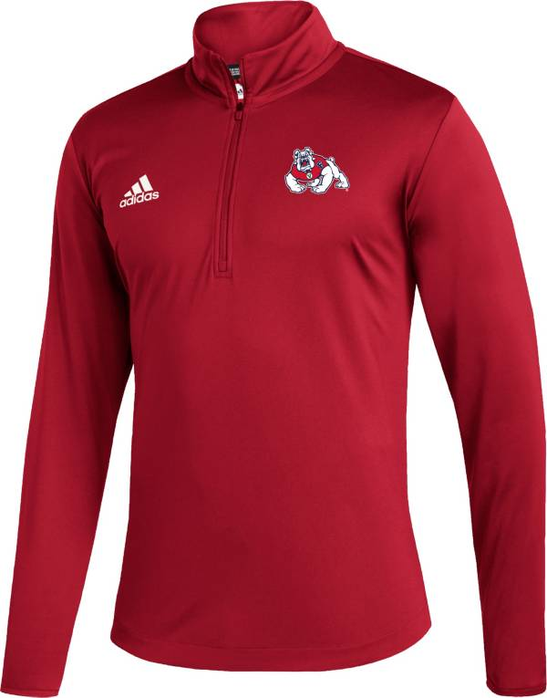 adidas Men's Fresno State Bulldogs Cardinal Under the Lights Quarter-Zip Shirt product image