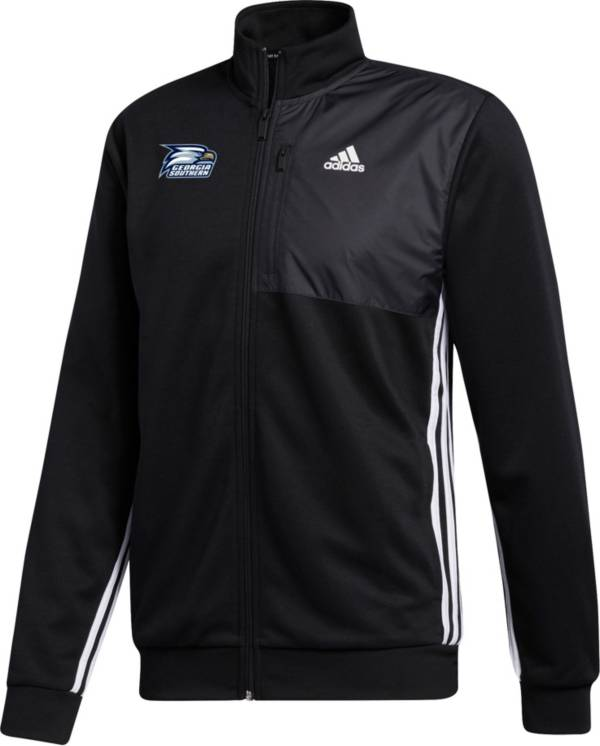 adidas Men's Georgia Southern Eagles Transitional Full-Zip Track Black Jacket product image