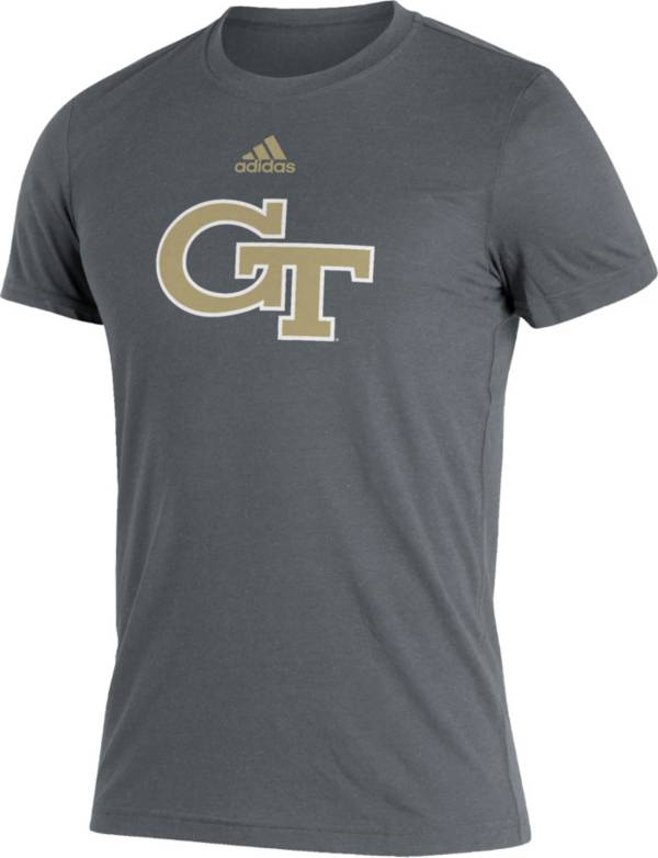 adidas Men's Georgia Tech Yellow Jackets Grey Logo Blend T-Shirt product image
