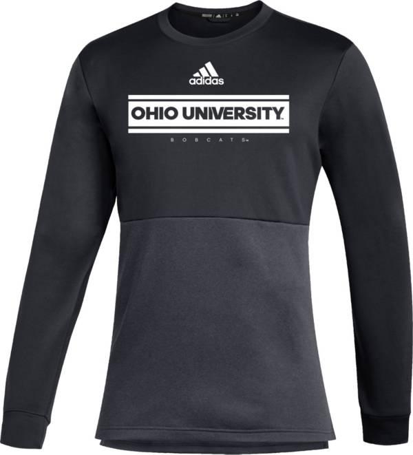 adidas Men's Ohio Bobcats Team Issue Crew Pullover Black Shirt product image