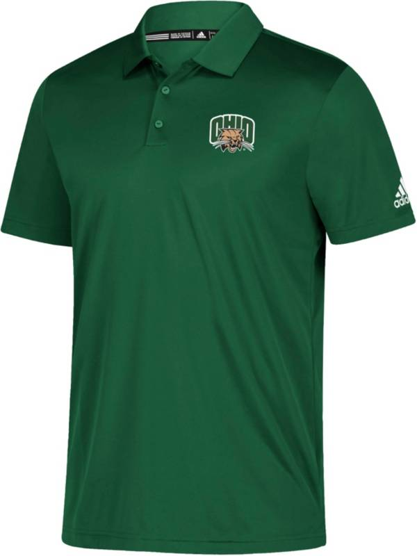 adidas Men's Ohio Bobcats Grind Green Polo product image