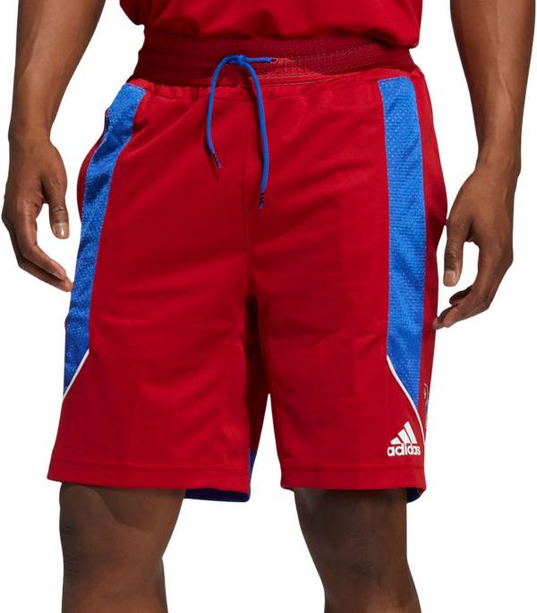 adidas Men's Kansas Jayhawks Crimson Retro Basketball Shorts product image