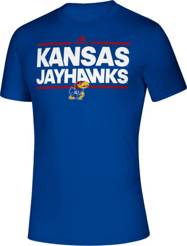 adidas Men's Kansas Jayhawks Blue Creator Performance T-Shirt product image