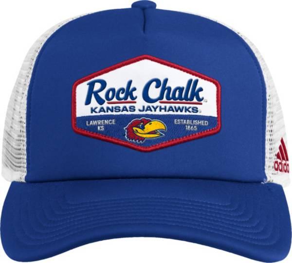 adidas Men's Kansas Jayhawks Blue Foam Trucker Adjustable Hat product image