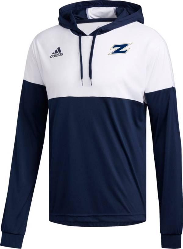adidas Men's Akron Zips Navy Legend Shooter Long Sleeve Shirt product image
