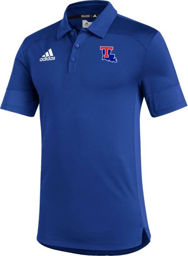 adidas Men's Louisiana Tech Bulldogs Blue Under the Lights Coaches Sideline Polo product image