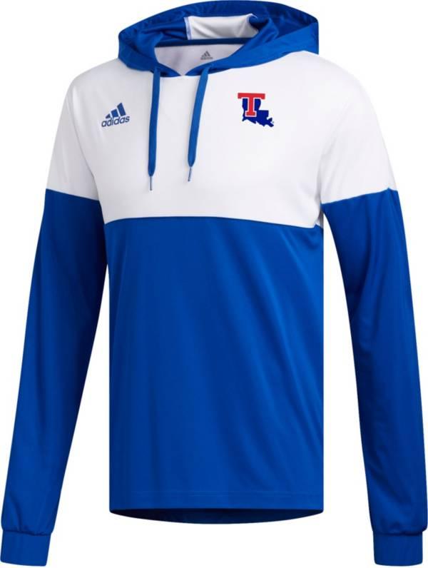 adidas Men's Louisiana Tech Bulldogs Blue Legend Shooter Long Sleeve Shirt product image