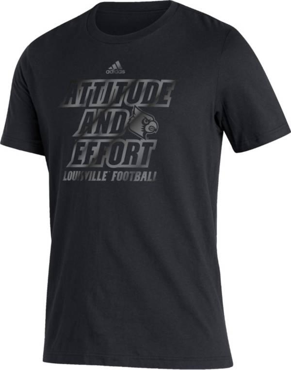 adidas Men's Louisville Cardinals Blackout T-Shirt product image