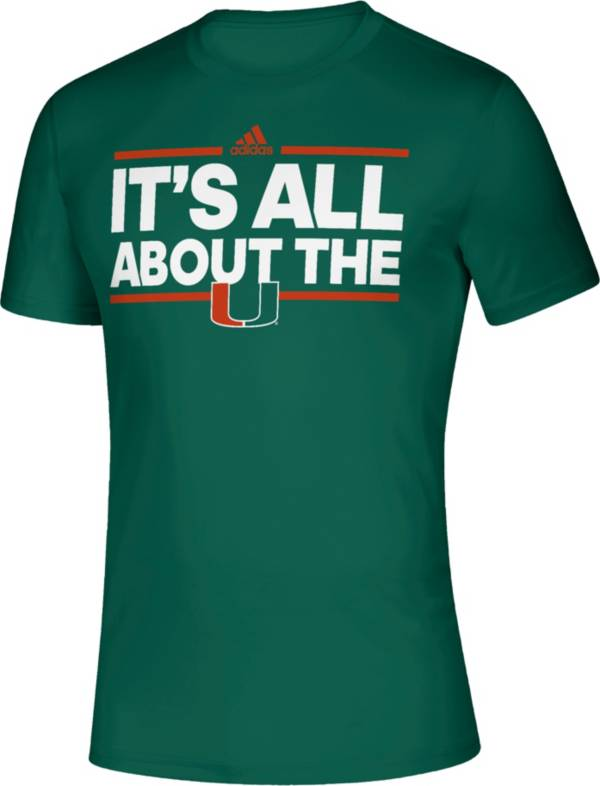 adidas Men's Miami Hurricanes Green Creator Slogan Performance T-Shirt product image