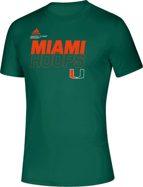 adidas Men's Miami Hurricanes Green Creator On-Court Basketball T-Shirt product image