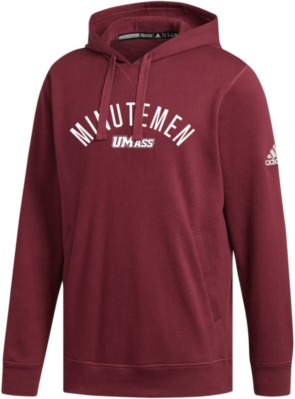 adidas Men's UMass Minutemen Maroon Fleece Pullover Hoodie product image