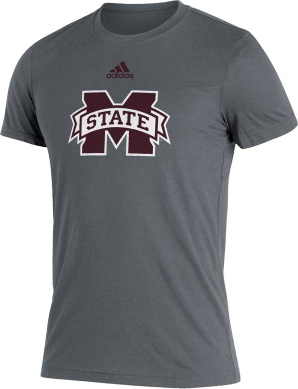 adidas Men's Mississippi State Bulldogs Grey Logo Blend T-Shirt product image
