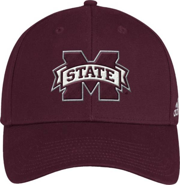 adidas Men's Mississippi State Bulldogs Maroon Structured Wool Adjustable Hat product image