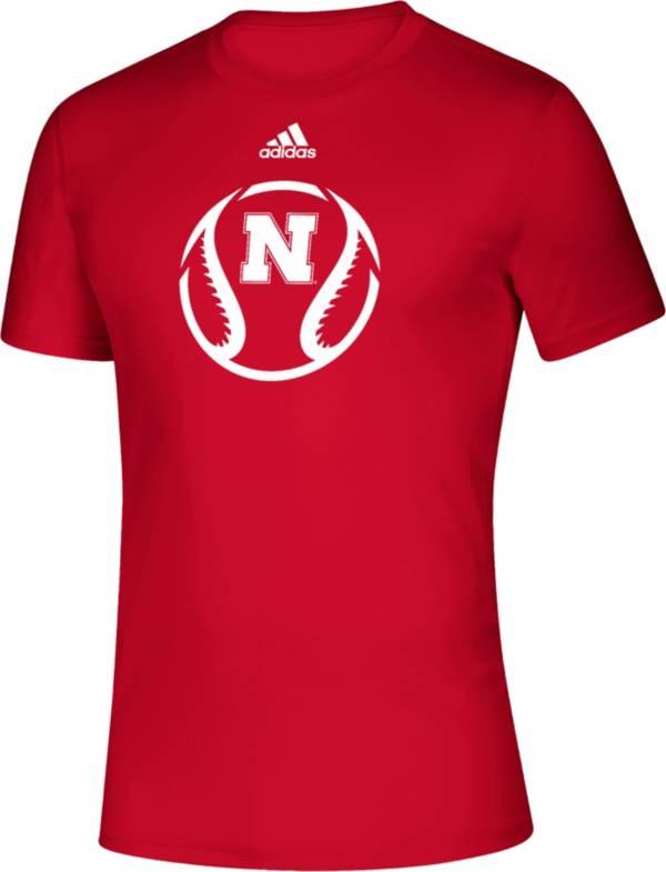 adidas Men's Nebraska Cornhuskers Scarlet Baseball Creator Performance T-Shirt product image