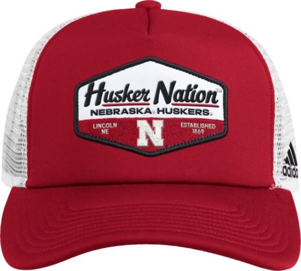 adidas Men's Nebraska Cornhuskers Scarlet Foam Trucker Adjustable Hat product image