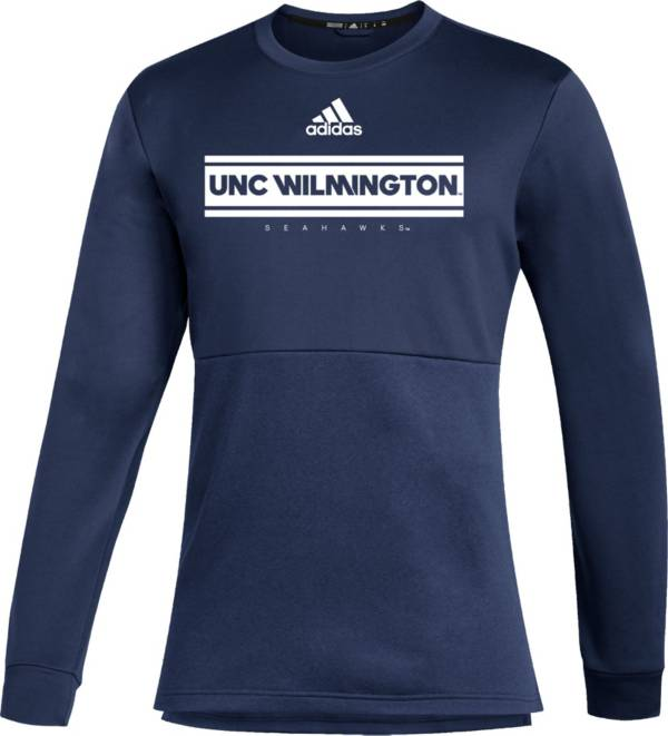 adidas Men's UNC-Wilmington  Seahawks Teal Team Issue Crew Pullover Shirt product image