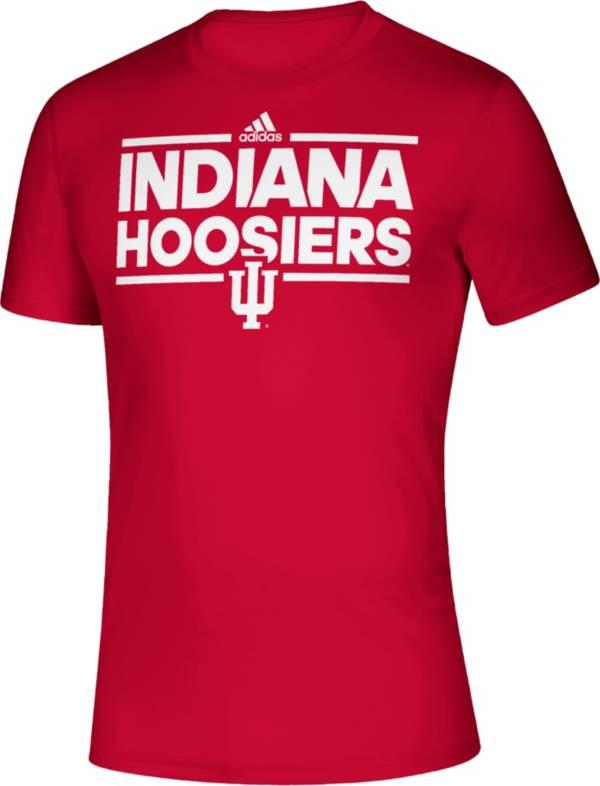 adidas Men's Indiana Hoosiers Crimson Creator Performance T-Shirt product image