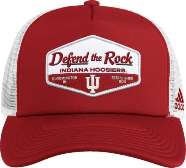 adidas Men's Indiana Hoosiers Crimson Foam Trucker Adjustable Hat product image