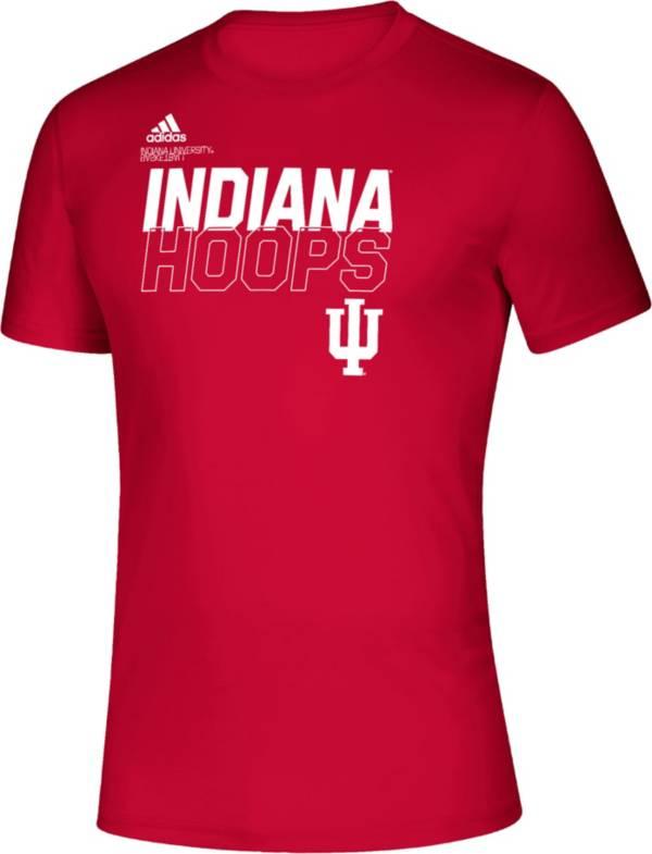 adidas Men's Indiana Hoosiers Crimson Creator On-Court Performance T-Shirt product image