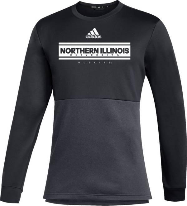 adidas Men's Northern Illinois Huskies Team Issue Crew Pullover Black Shirt product image