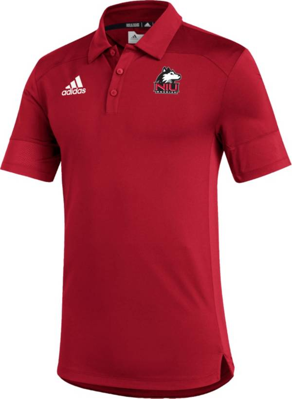 adidas Men's Northern Illinois Huskies Cardinal Under the Lights Coaches Sideline Polo product image