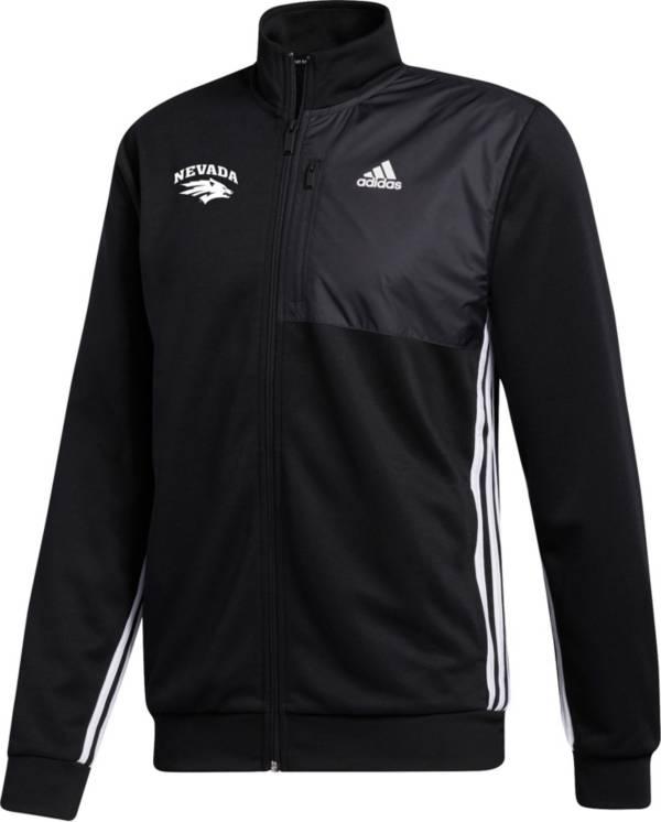 adidas Men's Nevada Wolf Pack Transitional Full-Zip Track Black Jacket product image