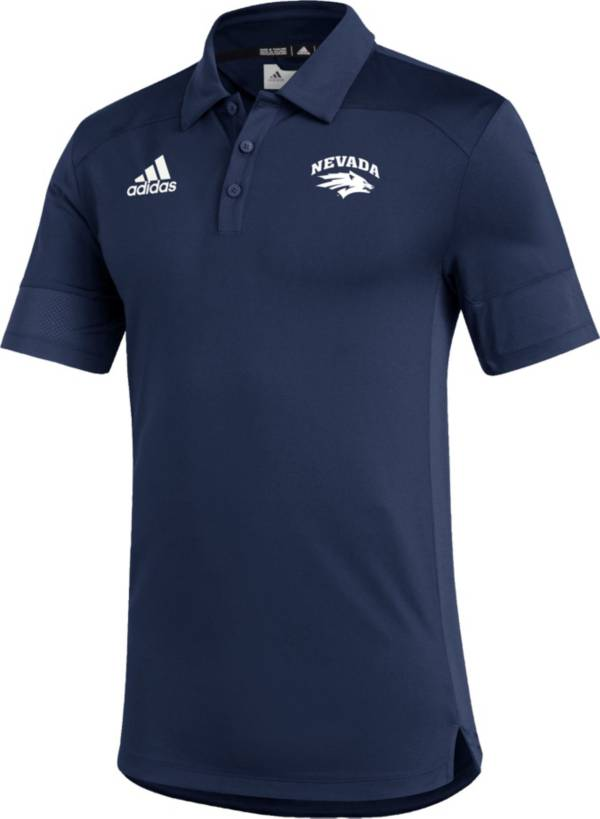 adidas Men's Nevada Wolf Pack Blue Under the Lights Coaches Sideline Polo product image