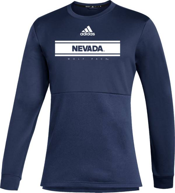 adidas Men's Nevada Wolf Pack Navy Team Issue Crew Pullover Shirt product image