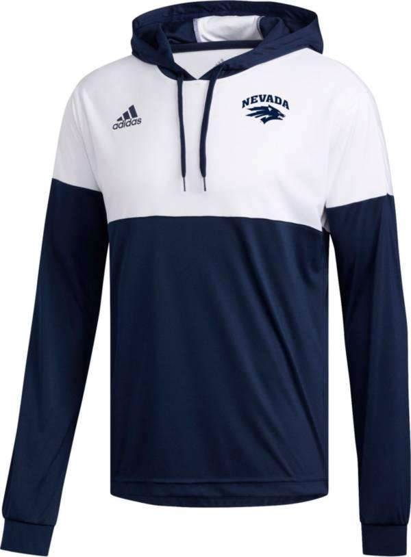 adidas Men's Nevada Wolf Pack Blue Legend Shooter Long Sleeve Shirt product image