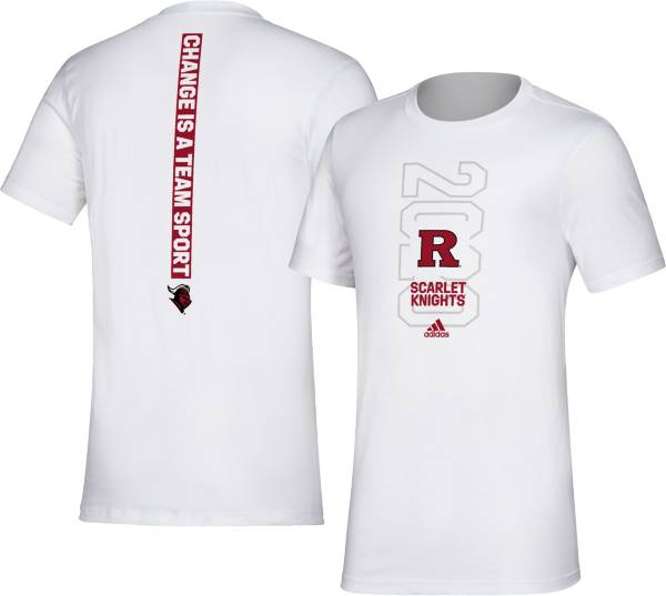 adidas Men's Rutgers Scarlet Knights 'Change is a Team Sport' Bench White T-Shirt product image