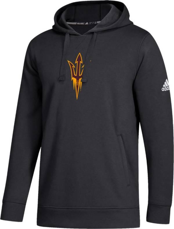 adidas Men's Arizona State Sun Devils Fleece Pullover Black Hoodie product image