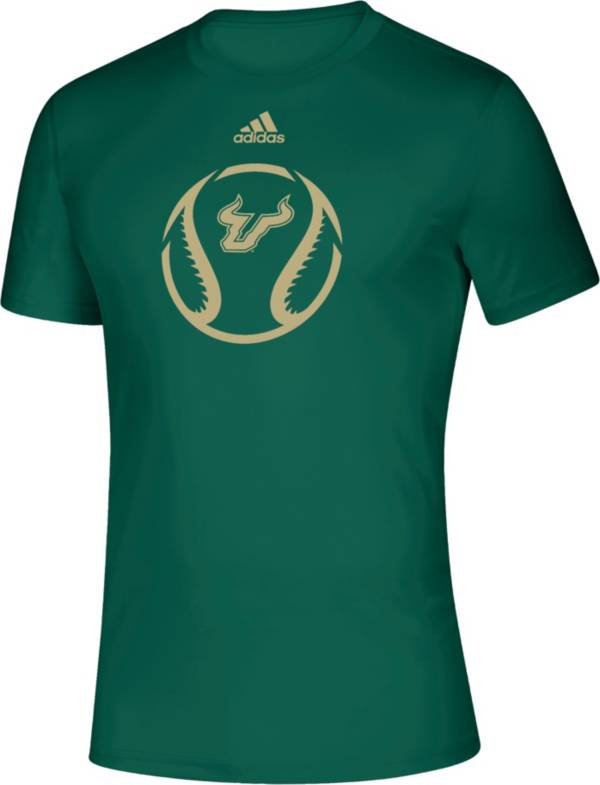 adidas Men's South Florida Bulls Green Baseball Creator Performance T-Shirt product image