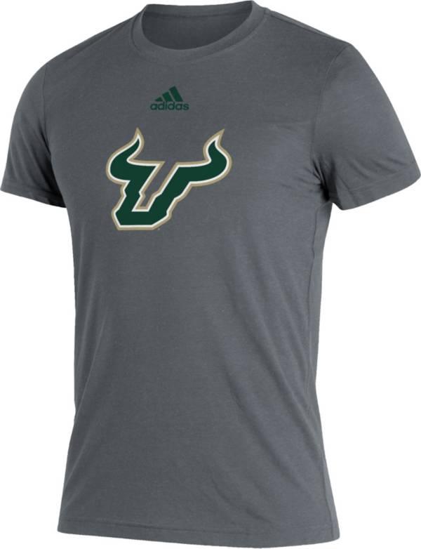 adidas Men's South Florida Bulls Grey Logo Blend T-Shirt product image